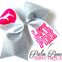 Pink Love Cheer Bow