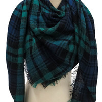 Fool For You Blanket Scarf in Green   MACA Boutique