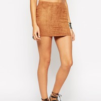 ASOS PETITE Mini Basic Pull On in Faux Suede