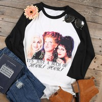 """""""It's just a bunch of Hocus Pocus"""" Casual Baseball T-Shirt"""