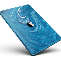 "Liquid Blue Color Fusion Full Body Skin for the iPad Pro (12.9"" or 9.7"" available)"