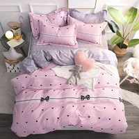 2018 Fish Unicorn Printing Bedding Set 100% Cotton Duvet Cover Flat Sheet Pillowcase Comforter Bed Set Twin Full Queen King Size