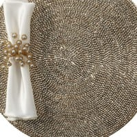 Metallic Studded Placemat - Set of 4 | Table Linens & Chargers | Tableware | Z Gallerie