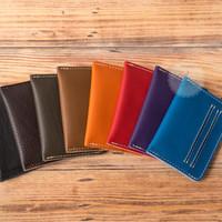 man leather wallet card holder wallet leather wallet blue credit card wallet credit card holder slim wallet thin wallet minimal wallet blue