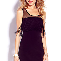 Flapping Fringed Bodycon Dress | FOREVER 21 - 2000073688
