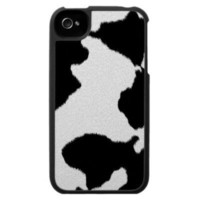 Dairy Cow Print iPhone 4 Case from Zazzle.com