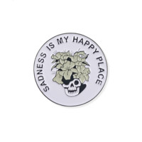 Sadness is Happiness Enamel Pin