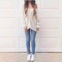 FASHION LOOSE LONG-SLEEVED SWEATER BDY39VB