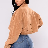 Analia Cropped Jacket - Camel