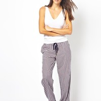 DKNY Mad For Plaid Floral PJ Pant