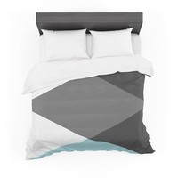 "Suzanne Carter ""Diamonds"" Gray Blue Featherweight Duvet Cover"