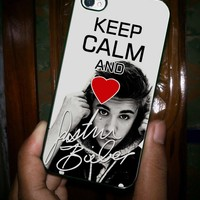 KEEP CALM AND JUSTIN BEIBER - iPhone 5 Case, iPhone 4/4s Case, Hard Case OCM