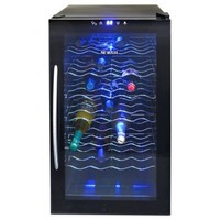 NewAir 28-Bottle Single-Zone Thermoelectric Wine Cooler in Black