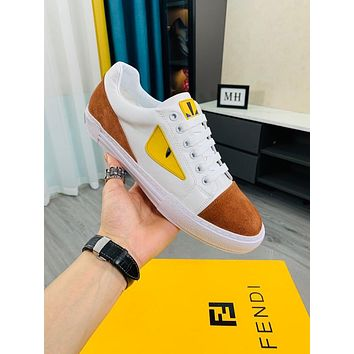 FENDI2021 Men Fashion Boots fashionable Casual leather Breathable Sneakers Running Shoes10110pk