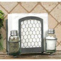 Chicken Wire Salt + Pepper Caddy