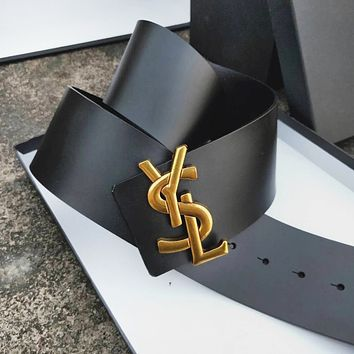 YSL New Fashion Letter Buckle Women's Casual Retro Simple And Versatile Leisure Belt Black