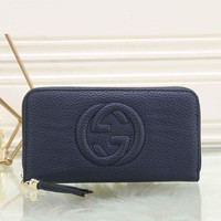 Gucci Women Leather Zipper Wallet Purse-5