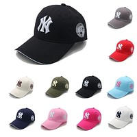 New Summer Mens Womens NY Baseball Cap Adjustable Snapback Sport Hip-Hop Sun Hat