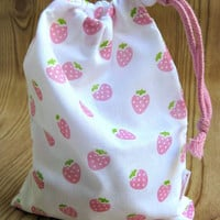 Strawberry Party Favor Gift Bags - Birthday or Baby Shower Treats