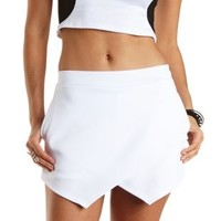 Envelope Wrap Mini Skort by Charlotte Russe - White