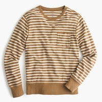 J.Crew Mens Reverse Terry Sweatshirt In Stripe