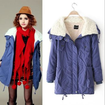 Winter Cotton Lovely Plus Size Jacket [61751623705]