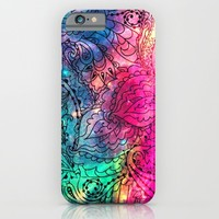 Space Flowers - for iphone iPhone & iPod Case by Simone Morana Cyla