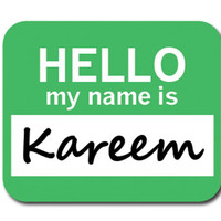 Kareem Hello My Name Is Mouse Pad
