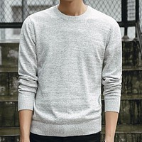 2018 New Pullovers Men Casual Autumn Spring O-Neck Cotton Quality Knitting Slim Fit Fashion Brand Clothing Mens Sweaters M-3XL