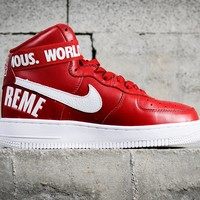[Free Shipping ]Supreme x Nike Air Force AF 1 High  698696-610 Basketball Shoes
