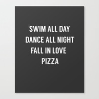 Motivational Quote, Inspirational Poster, Swim All Day