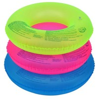 Fluorescent Color Adults Thick Inflatable Life Buoy Swim Ring