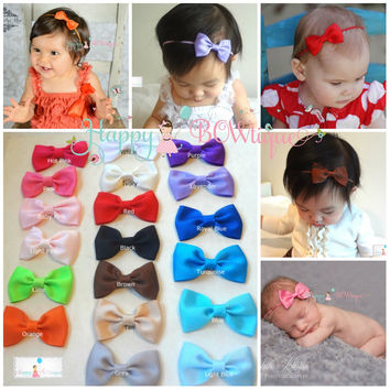 baby girls headband, Baby bow headband