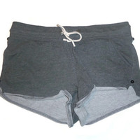 Shorts in Dark Gray with Black Stud Buttons Womens Clothing Large