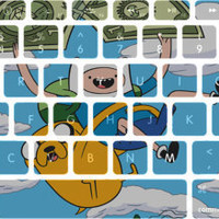 Finn and Jake Adventure Time Macbook Keyboard Stickers