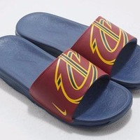 1710 Nike Benassi Solarsoft NBA Cleveland Cavaliers Men's Slippers 917551-601