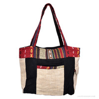 Woven Hemp Tote Bag Multi on Sale for $22.99 at The Hippie Shop