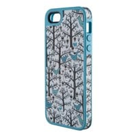 Speck Products FabShell Fabric-Covered Case for iPhone 5 & 5S  - LoveBirds Peacock Teal