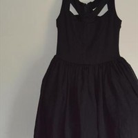 ASOS Prom Dress With Lace Back Detail-black-size 8-New  from blamfort