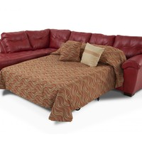 Mercury Right Arm Facing Bob-O-Pedic Queen Sleeper Sectional | Living Room Sets | Living Room | Bob's Discount Furniture