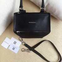 "Givenchy Black Goatskin Leather ""Small Pandora"" Satchel Bag"