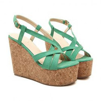 Elegant Women's Sandals With Solid Color and Wedge Design