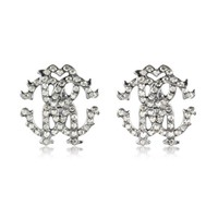 Roberto Cavalli Designer Earrings RC Lux Small Signature Earring w/Crystal