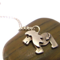 Sterling Silver Lion Necklace - Lion Jewellery - Lion Gifts - Animal Necklace
