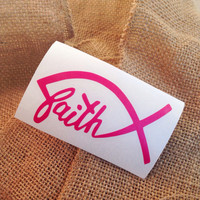 Faith decal Christian decal Car Decal Monogram Decal Monogram Vinyl Vinyl Decal Monogram Gift Monogram sticker Car sticker christian faith
