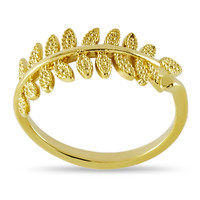 Adjustable Branch Ring, Gold Plated Twig Ring, Twig Wrap Ring