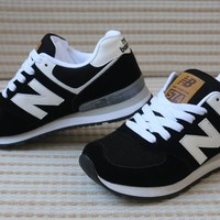 """New Balance"" Sport Casual N Words Breathable Unisex Sneakers Couple Running Shoes"