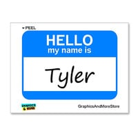 Tyler Hello My Name Is Sticker