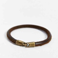 Profound Aesthetic Leather Hook Bracelet- Chocolate One