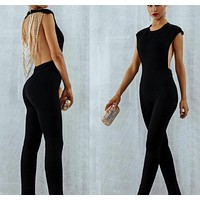 Sexy backless club party jumpsuit